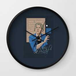 """Nevertheless, She Persisted"" Wall Clock"