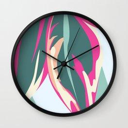 Pink Ti Time Wall Clock