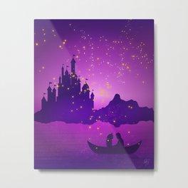 Castle with Lanterns Metal Print