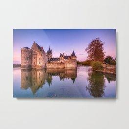 Sully sur Loire at sunrise, Loire valley, France. Metal Print