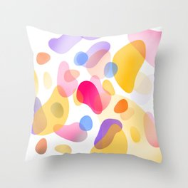 Pattern, wallpaper, forme e colore Throw Pillow