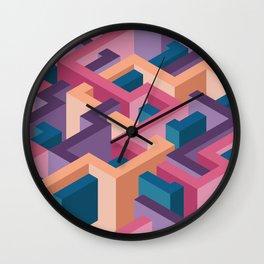 3d illusion labyrint Wall Clock