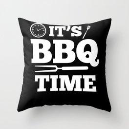 Barbecue Grill Season Throw Pillow