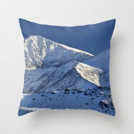 Snowy mountains. 3.478 meters Throw Pillow