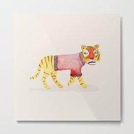 Tiger in a sweater Metal Print