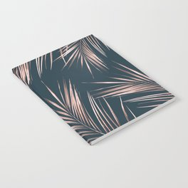 Rose Gold Pink Palm Leaves Notebook