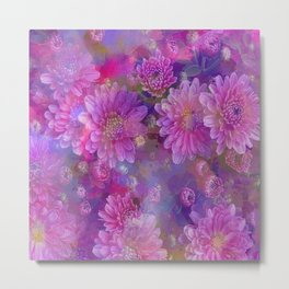 Fantastic colored Flowers Metal Print