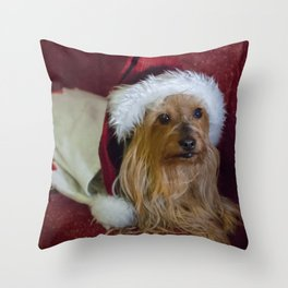 Yorkshire (yorkie) / Silky Terrier Christmas Throw Pillow