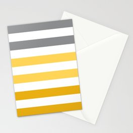 Stripes Gradient - Yellow Stationery Cards