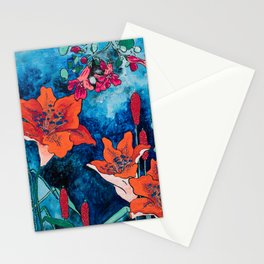 Blooming Night Garden: Twilight Stationery Cards