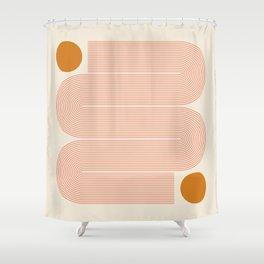 Abstraction_SUN_LINE_ART_Minimalism_002 Shower Curtain