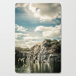 Lake in the mountains Cutting Board
