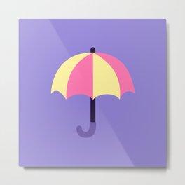 Pink and yellow umbrellas Metal Print