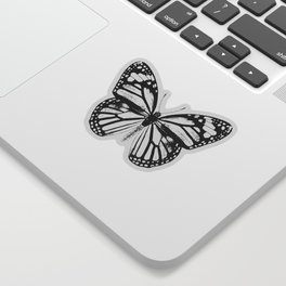 Monarch Butterfly | Vintage Butterfly | Black and White | Sticker