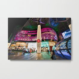 Glimmering Christmas Shopping Fronts Metal Print