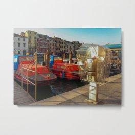 Fire Boats in Venice Metal Print