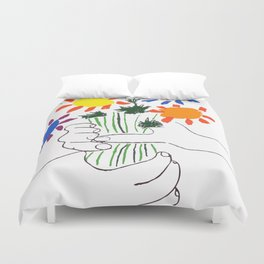 Pablo Picasso Bouquet Of Peace 1958 (Flowers Bouquet With Hands), T Shirt, Artwork Duvet Cover