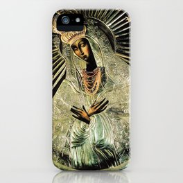 Our Lady Gate of Dawn Virgin Mary of Sharp Gate Madonna without Child Christmas Gift Religion Art iPhone Case