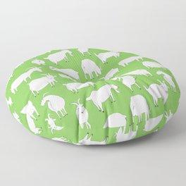 Green Goats Floor Pillow