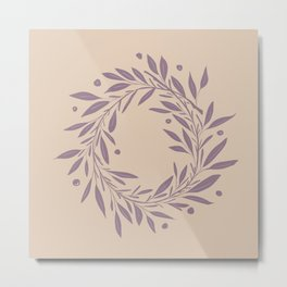Purple Wreath  Metal Print