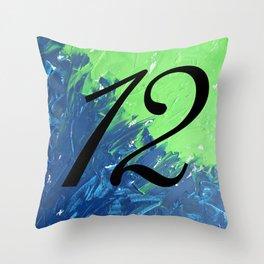 Blue & Green, 12, No. 1 Throw Pillow