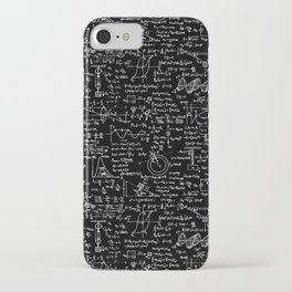 Physics Equations on Chalkboard iPhone Case