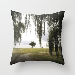 alone tree at storm king Throw Pillow
