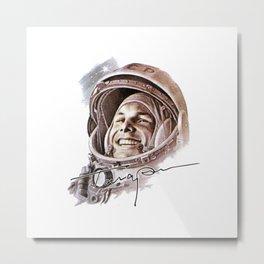 USSR CCCP Space Astronaut Yuri Gagarin Metal Print