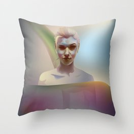 portrait in the water Throw Pillow