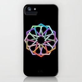 Geometric Art - Hexagon Rose iPhone Case
