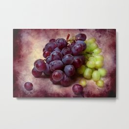 Grapes Red And Green Metal Print
