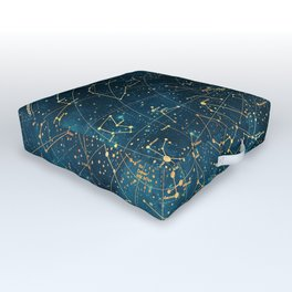 Under Constellations Outdoor Floor Cushion