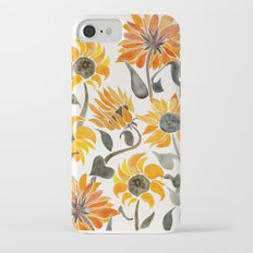 Sunflower Watercolor – Yellow & Black Palette iPhone 8 Slim Case