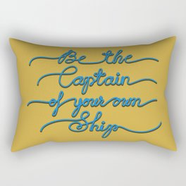 Be the Captain of your own Ship (Yellow and Blue) Rectangular Pillow