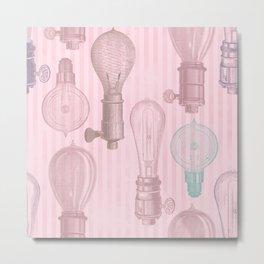 Vintage Light Bulbs Neck Gator Light Bulb Metal Print