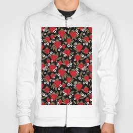 Strawberry Blooms – Black & Gold Hoody