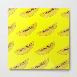 yellow watermelon slices Metal Print