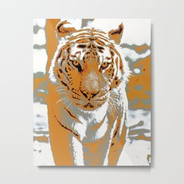 Bicolor Tiger Illustration  Metal Print
