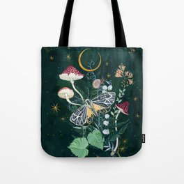 Mushroom night moth Tote Bag