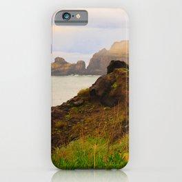 Coastal landscape in Azores iPhone Case