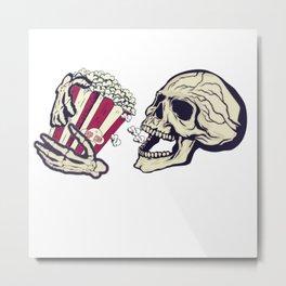 Deathly Cravings: Popcorn Metal Print