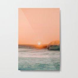 Sunset Ocean (Color) Metal Print