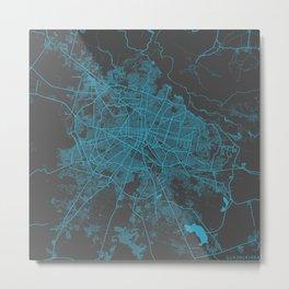 Guadalajara map blue Metal Print