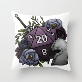 Fighter Class D20 - Tabletop Gaming Dice Throw Pillow