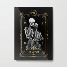 The Lovers VI Tarot Card Metal Print
