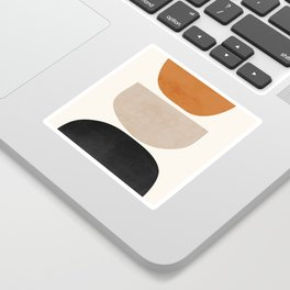 abstract minimal 63 Sticker