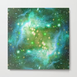 Tiny Lens Textured Nebula Metal Print