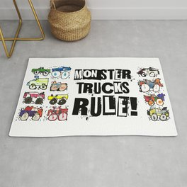 Monster Truck Kid Art by Tucker Rug