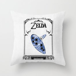 Zelda legend - Ocarina of time Throw Pillow