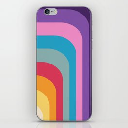 Retro Rainbow 02 iPhone Skin